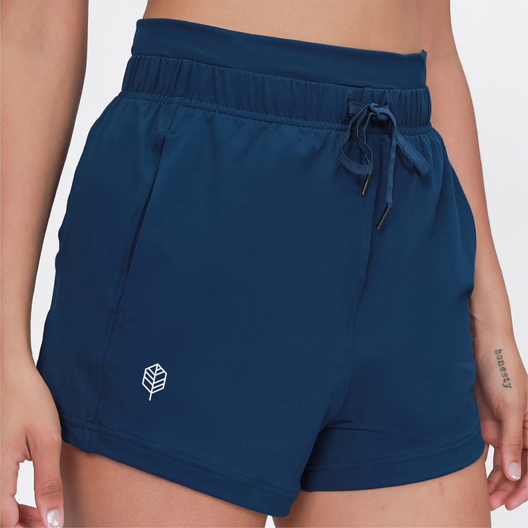 High Waist Running Shorts With Side Pockets