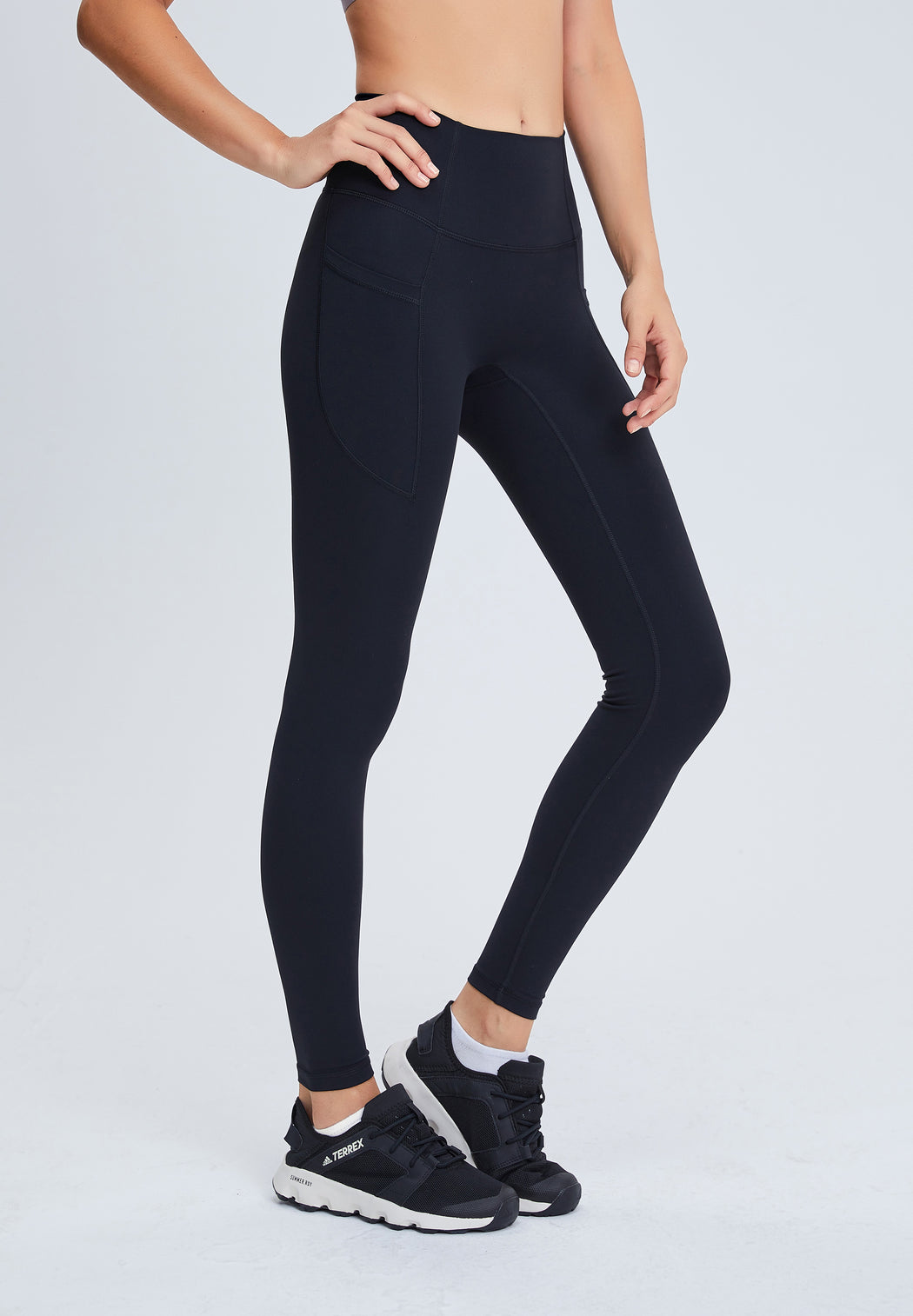 High Waist Go-Train Leggings With Sides Pockets