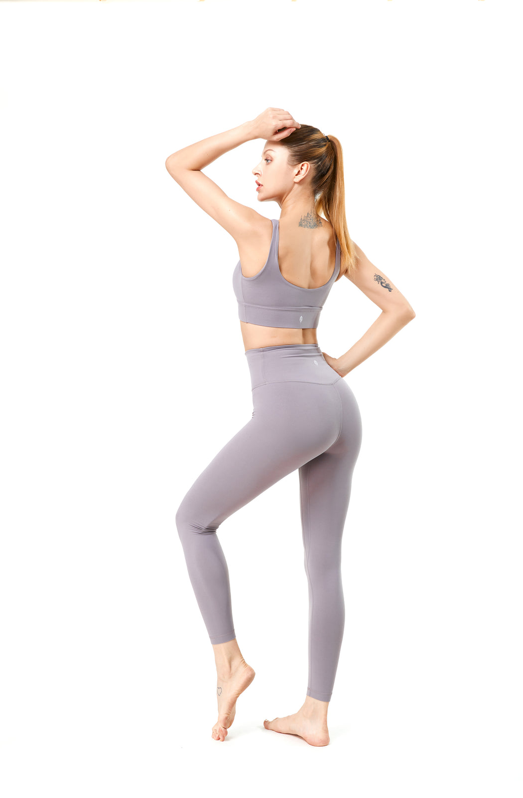 MOVE U-Scoop Neckline Skin Color Activewear Sets (Top and Bottom)
