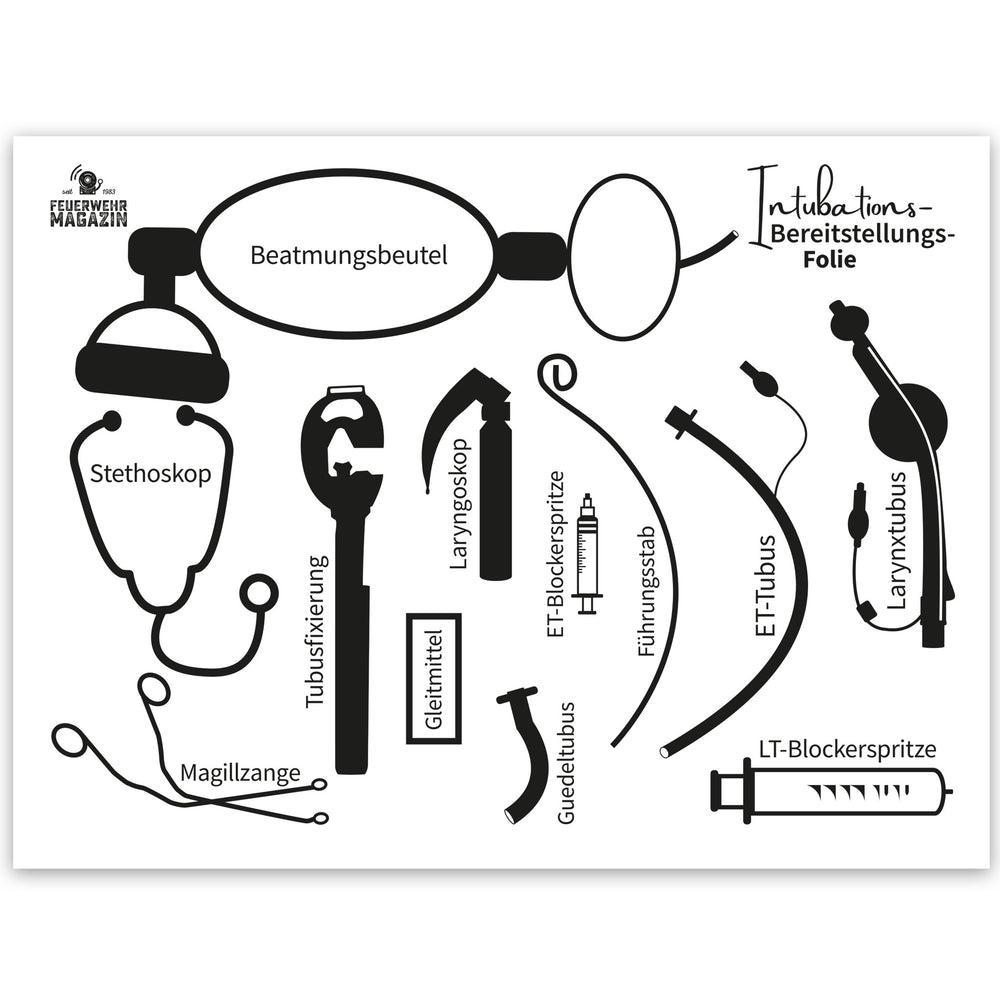 Intubations-Bereitstellungs-Folie