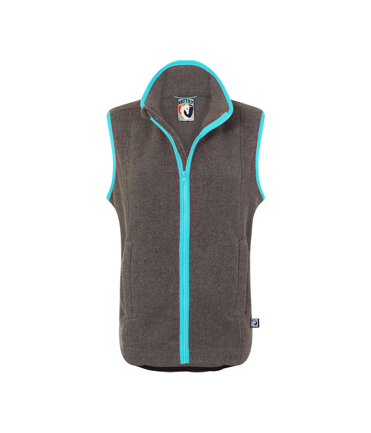 ADULT FLEECE GILET - GREY/SKY