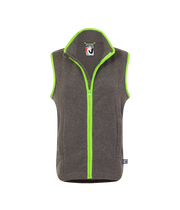 ADULT FLEECE GILET - GREY/GREEN