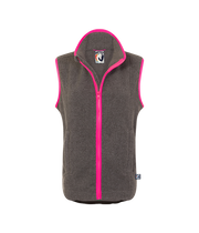 ADULT FLEECE GILET - GREY/PINK