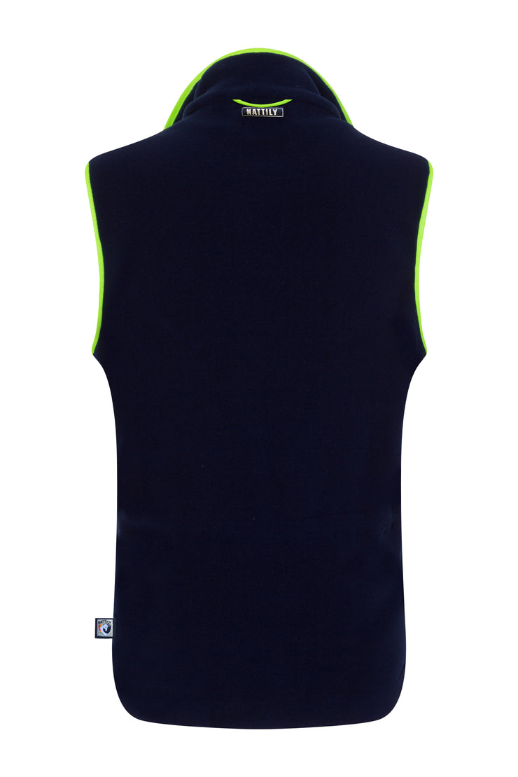 ADULT FLEECE GILET - NAVY/GREEN