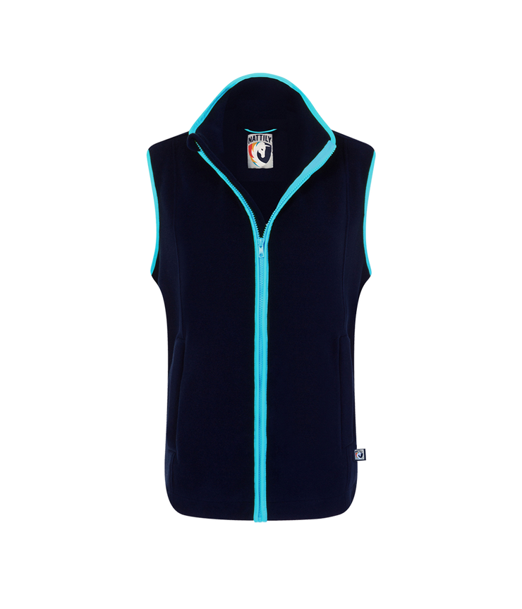 ADULT FLEECE GILET - NAVY/SKY