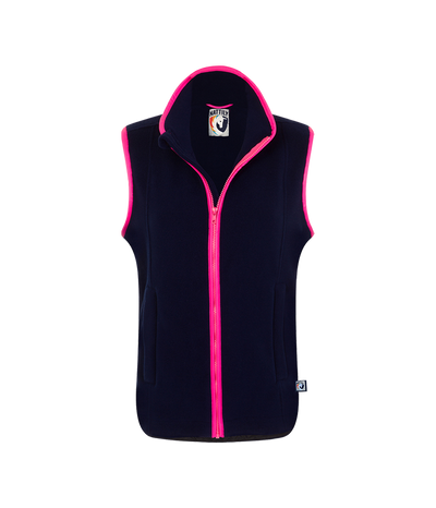 ADULT FLEECE GILET - NAVY/PINK