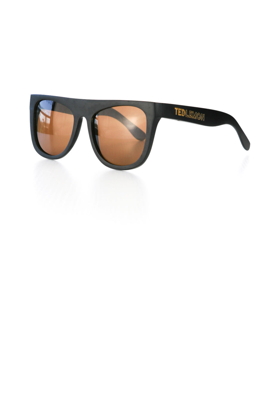 Black Bamboo Sunglasses Teddy Ted and Lemon