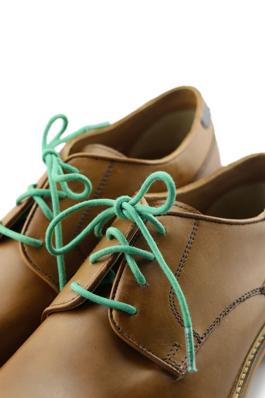 Shoe Laces Mint Leaves Waxed Cotton Ted and Lemon