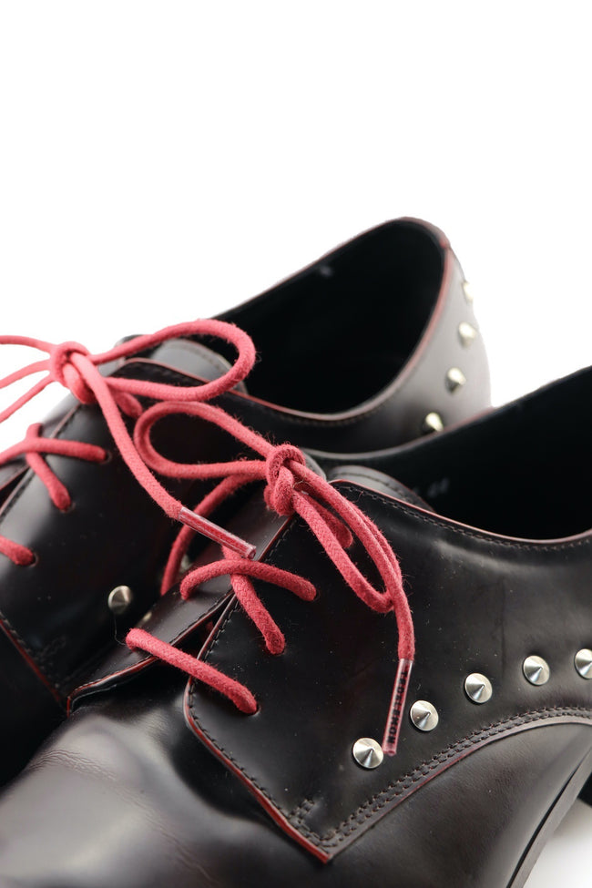 Shoe Laces Rhubarb Waxed Cotton Ted and Lemon