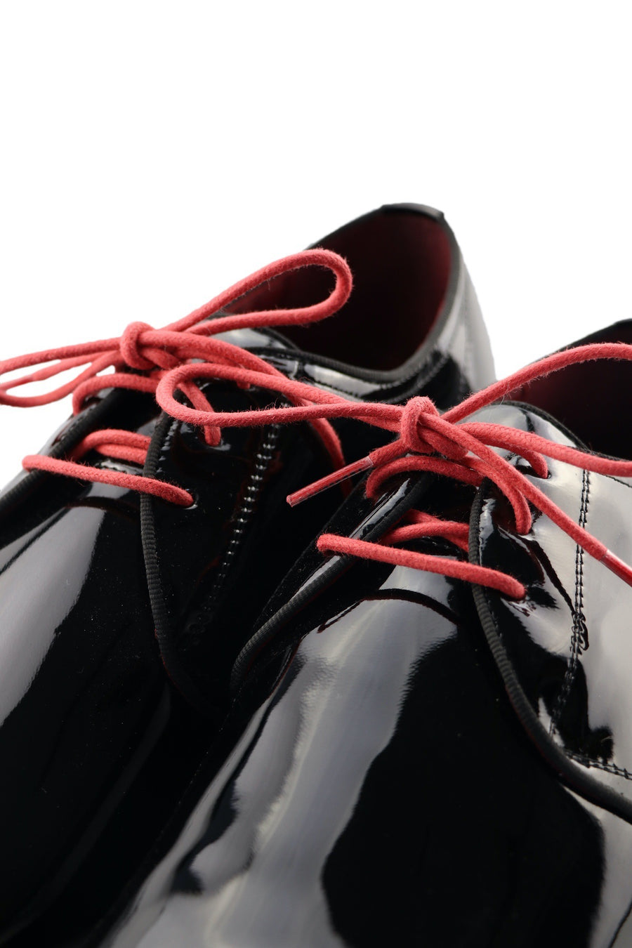 Shoe Laces Red Velvet Waxed Cotton Ted and Lemon