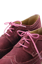 Shoe Laces Soft Plum Waxed Cotton Ted and Lemon
