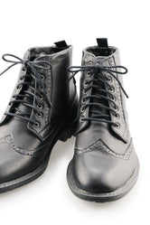 Black Dress Boot Laces - Black Onyx