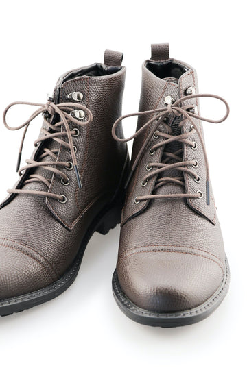Boot Laces Dark Cocoa Chocolate Waxed Cotton Ted and Lemon with metal aglet