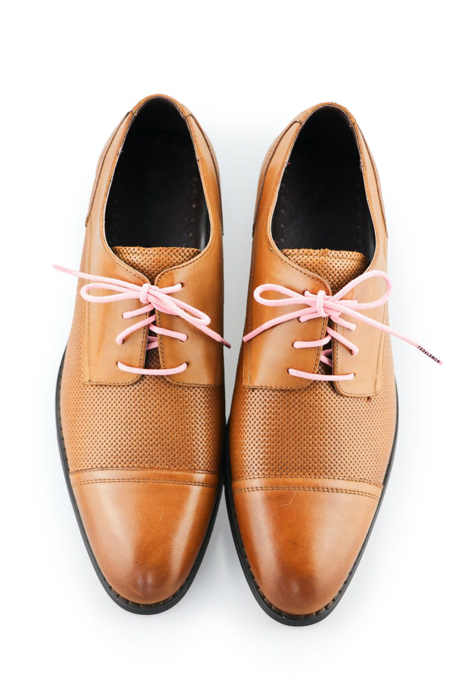 Shoe Laces Bubble Gum Waxed Cotton Ted and Lemon