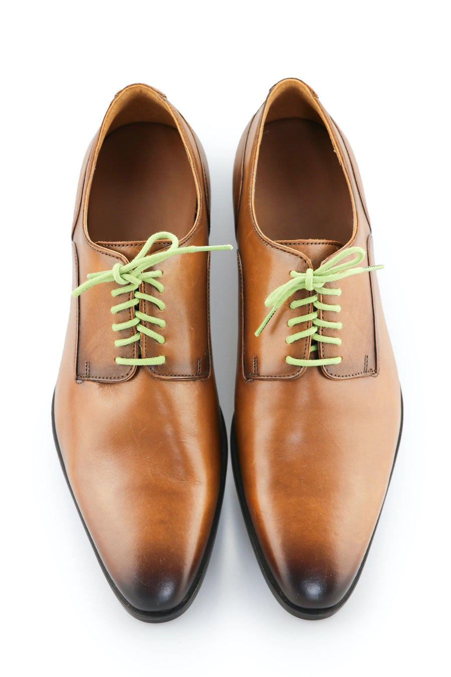 Shoe Laces Apple Green Waxed Cotton Ted and Lemon