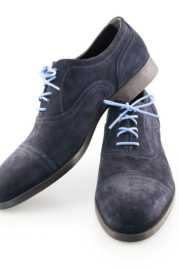 Shoe Laces Ocean Blue Waxed Cotton Ted and Lemon