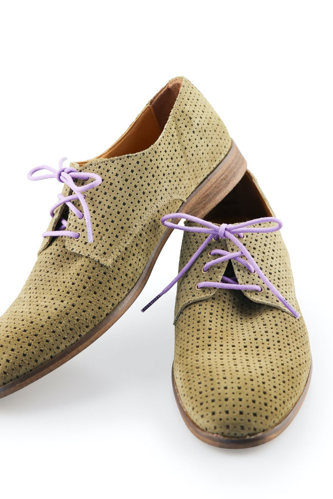 Shoe Laces Passionfruit Waxed Cotton Ted and Lemon