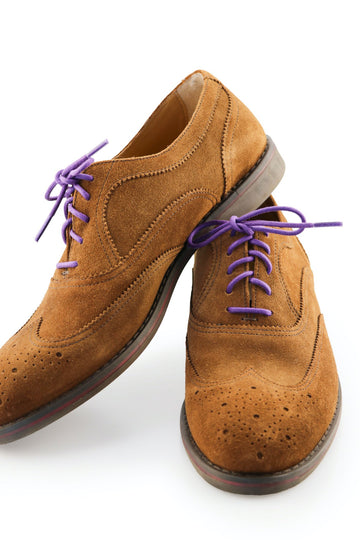 Purple Shoe Laces Violet Waxed Cotton Ted and Lemon