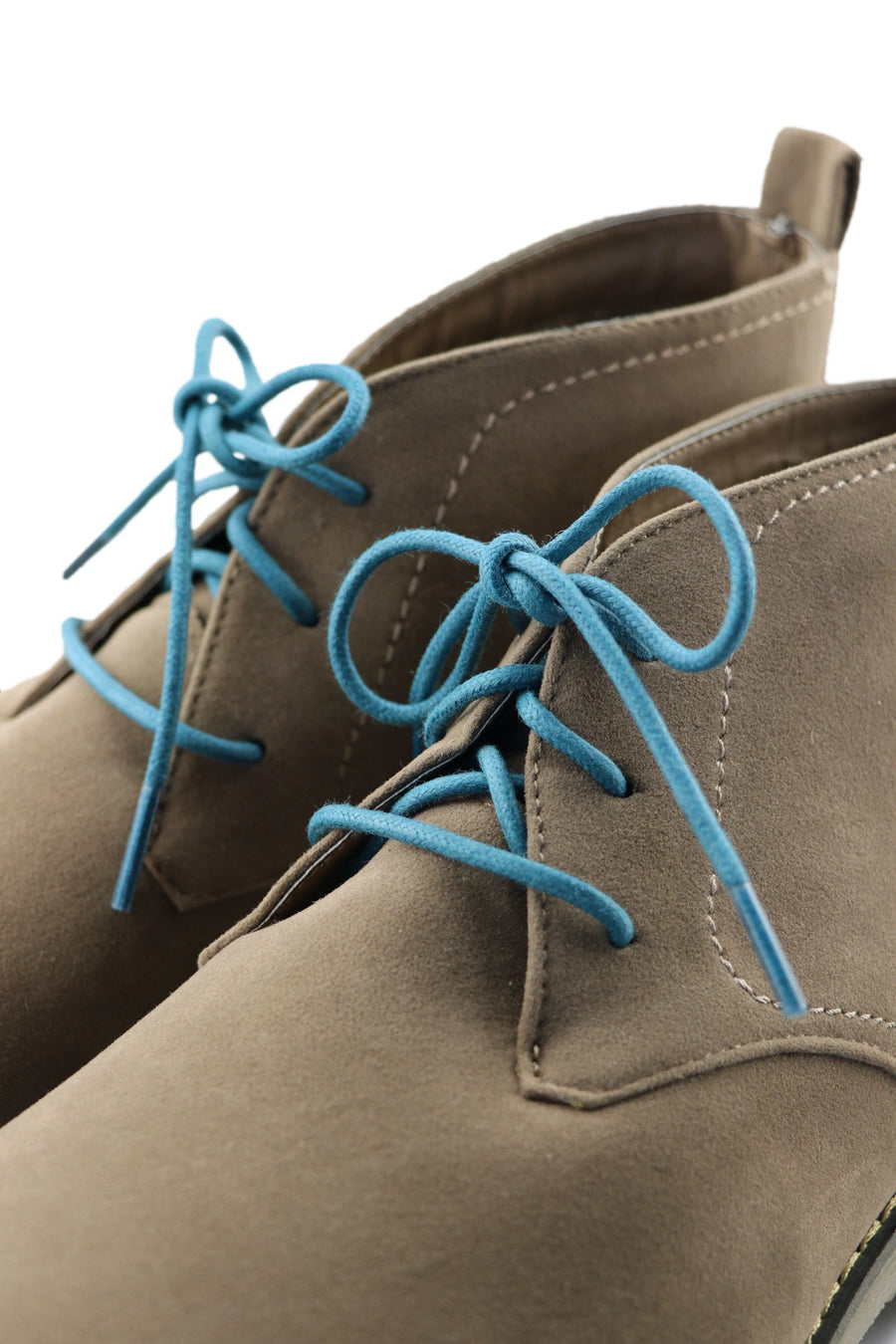 Shoe Laces Teal Macaroon Waxed Cotton Ted and Lemon