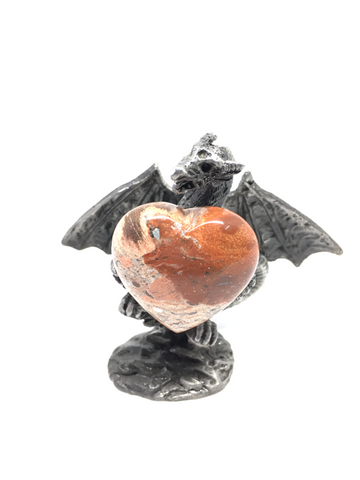 Brecciated Jasper Puff Heart # 13 - 30mm