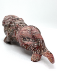 Rose Quartz Puff Heart # 15 - 30mm