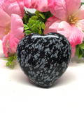 Snowflake Obsidian Puff Heart # 19 - 50mm