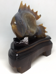 Agate Geode Fish with Stand #431