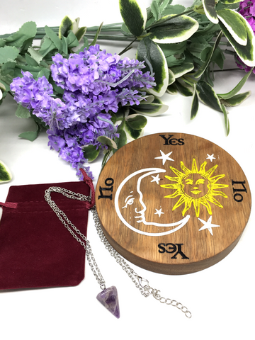 Wooden Pendulum Board with Pendulum Necklace #264