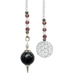 Amethyst with Flower Of Life Pendulum