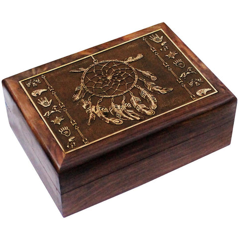 Native American Designs Wooden Box