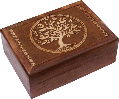 Multi-Faith Tree Of Life Wooden Box