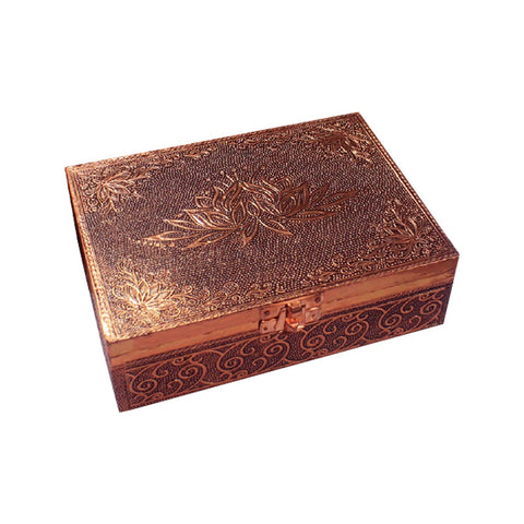 Aluminium Copper Plated Lotus Box
