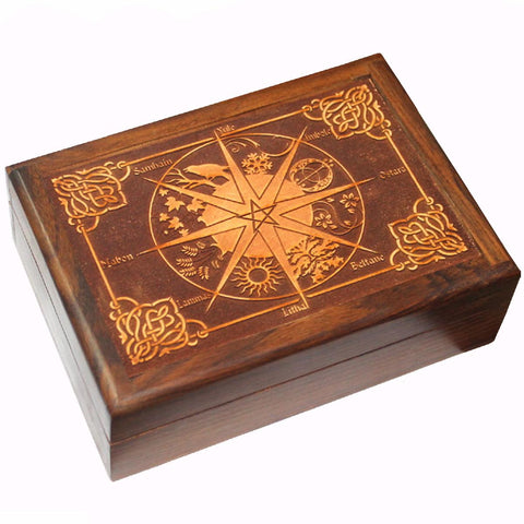 Pagan Calendar Wooden Box