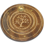 Multi-Faith Tree Of Life Round Incense Holder