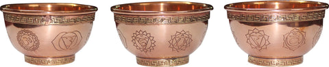7 Chakras Copper Bowl