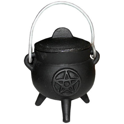 Cast Iron Pentacle Cauldron 7.5cm