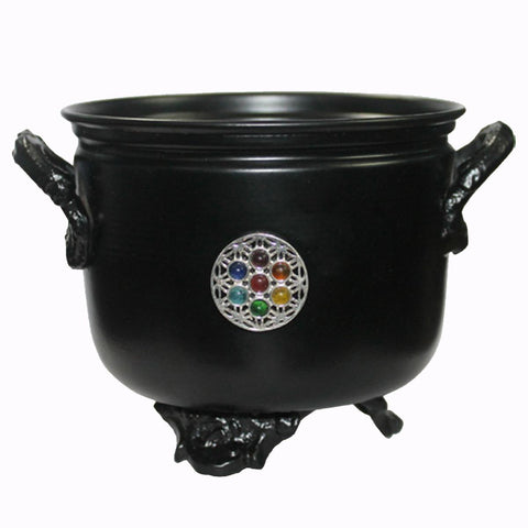 Flower Of Life Black Metal Cauldron 11.5cm