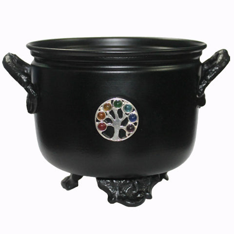 Tree Of Life Black Metal Cauldron 11.5cm
