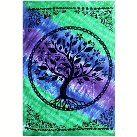 Tree Of Life Multi-Faith Tapestry - 147cm x 208cm