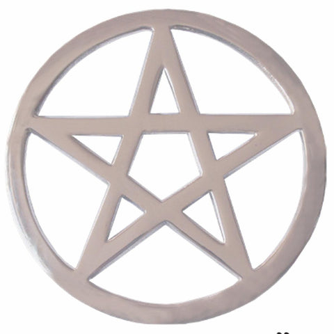 Silver Plated Brass Altar Pentacle 14.5cm