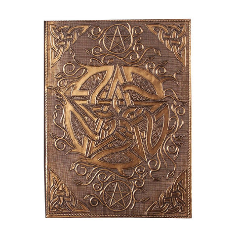 "Copper Plated Pentacle Journal 5"" x 7"""