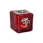 Om Wish Candle Holder - Red