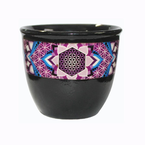 Ceramic Smudge Holder - Flower of Life (small)