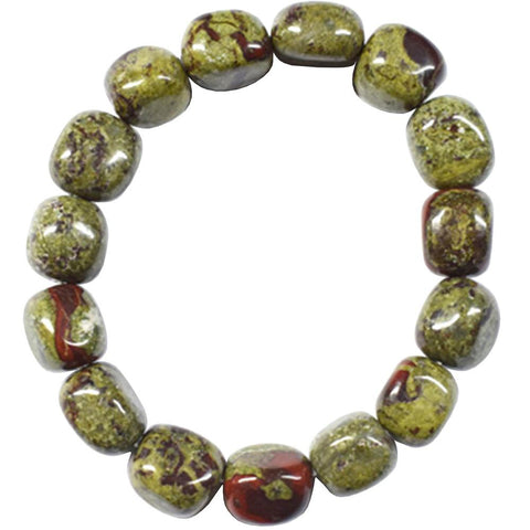 Dragon Bloodstone Jasper Tumbled Bracelet