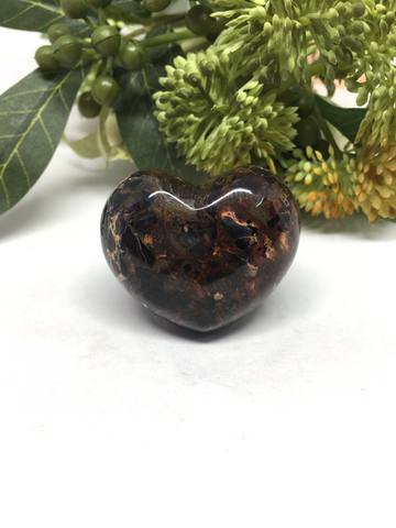 Harlequin Jasper Puff Heart # 37 - 45mm