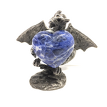 Sodalite Puff Heart # 5 - 30mm