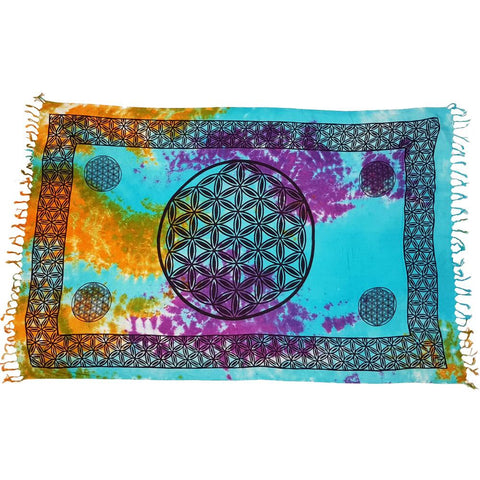 Flower Of Life Tie Dye Altar Cloth