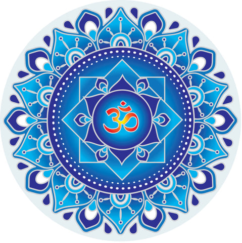 Sunseal Blue Om Mandala