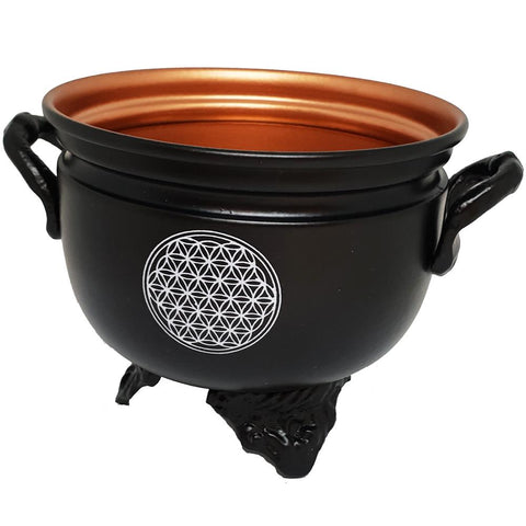 Flower Of Life Metal Cauldron 10cm