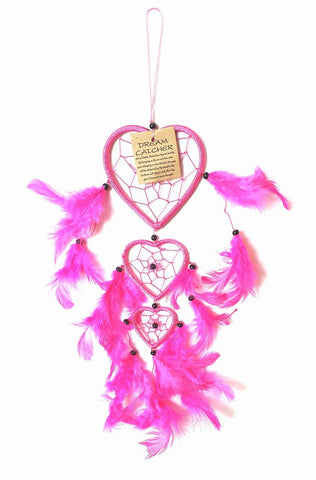 Pink Chain Of Hearts Dream Catcher